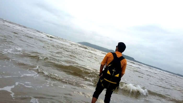 Rahul exploring North Goa Beaches
