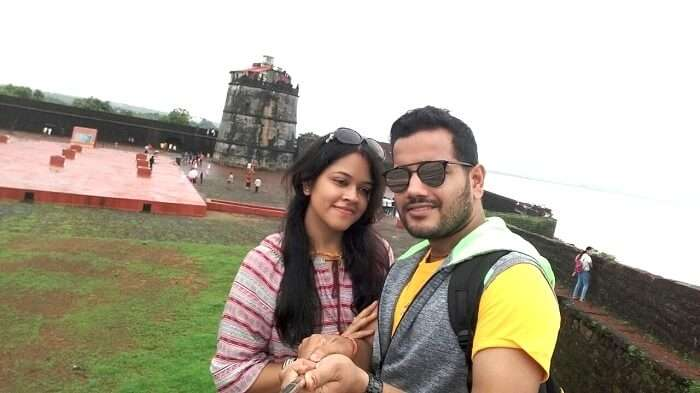 Rahul and his wife enjoying the sightseeing tour