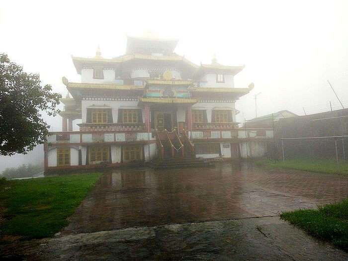 Visiting the monastery in Mystic weather