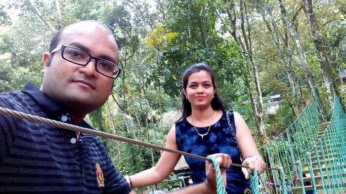 Having fun in adventurous Thekkady