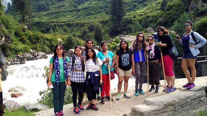 Girls on a trek to Kasol
