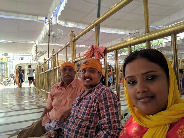 Sitting inside the Golden Temple