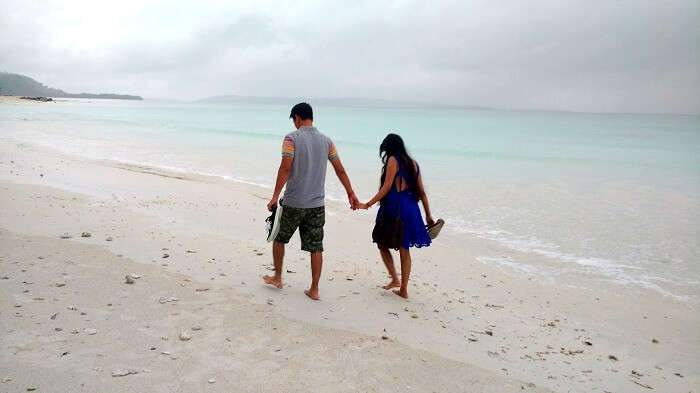 Utsav and his wife in Andaman