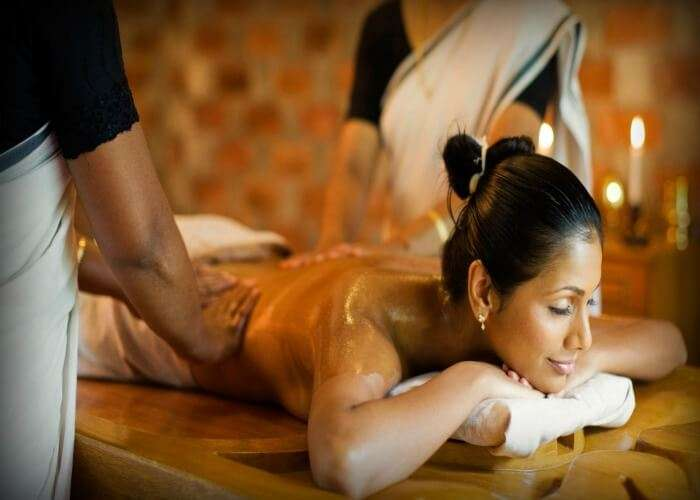 A relaxing spa session in Kerala