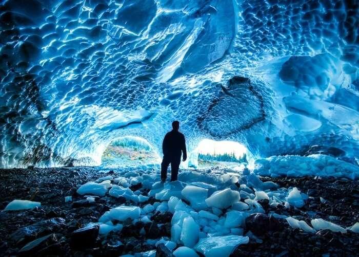 Adventurous ice caves in Alaska