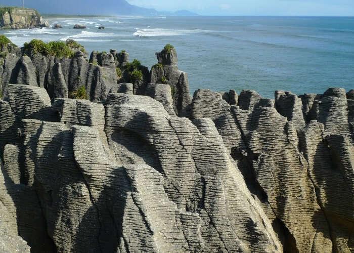 Amusing view of the pancake rocks