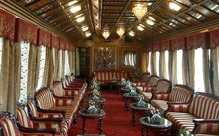 Deluxe hall coach of Royal Orient Train