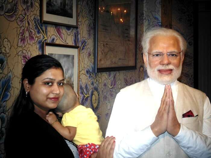 Wax statue of Narender Modi