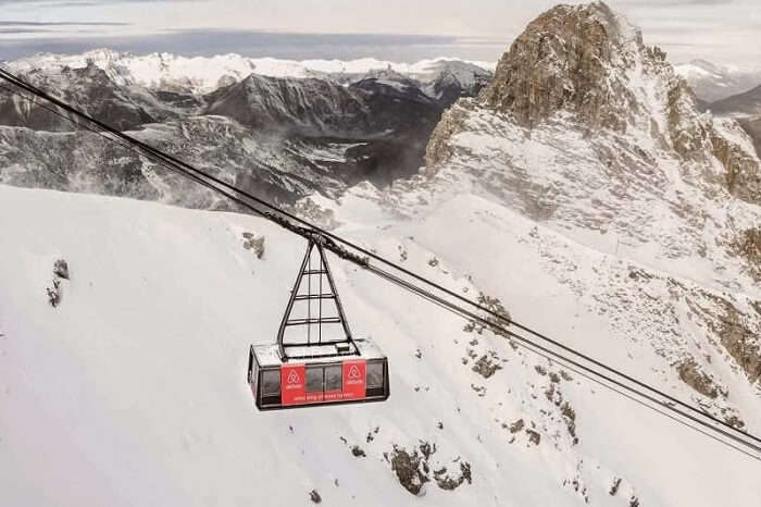 A Ski Lift in France that has been converted into one of the coolest Airbnb places
