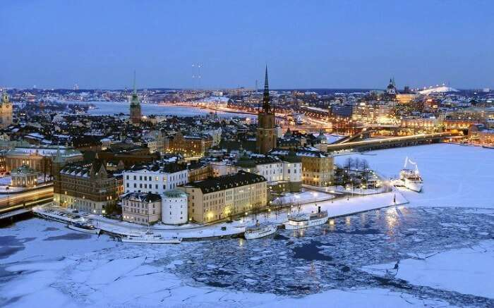 Winter in Stockholm, one of the best honeymoon destinations in Europe in winter