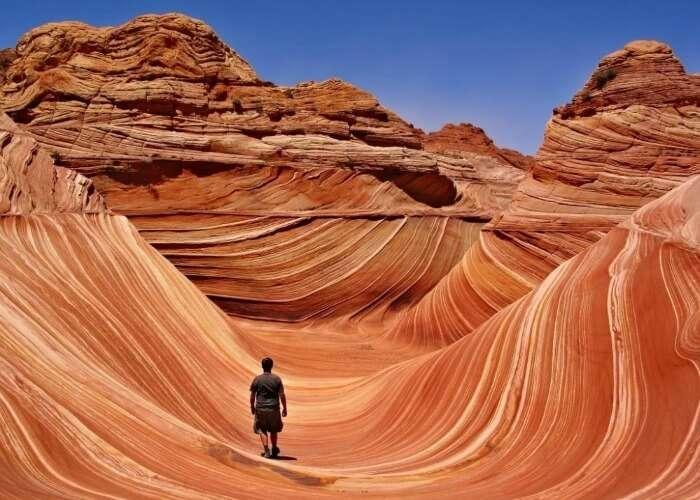 Watch the wavy rock formations in Arizona