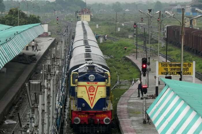 A train at Jalpaiguri Railway Station