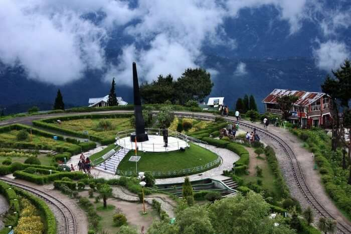 A view of the hill top restaurant in Kalimpong