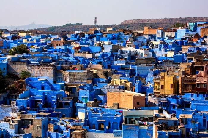 Aerial view of Jodhpur- the blue city