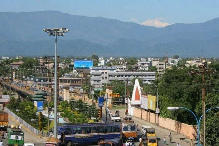 Aerial view of Siliguri town