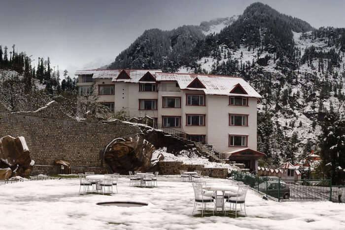 Beautiful view of a resort in Manali