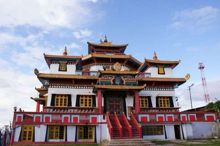 Thongsa Gompa during a bright day