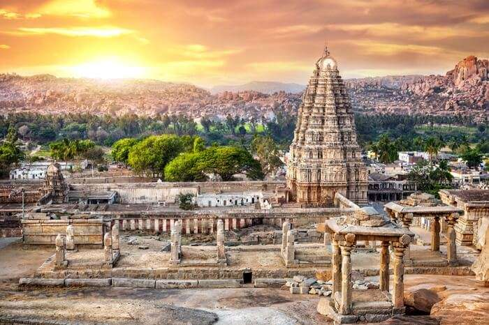 Ancient ruins of the ancient Hindu city of Hampi