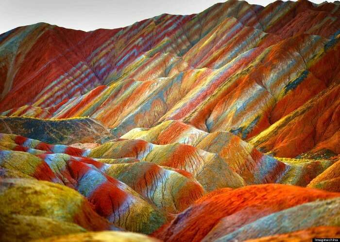 Watch different shades of colors at this rainbow mountain
