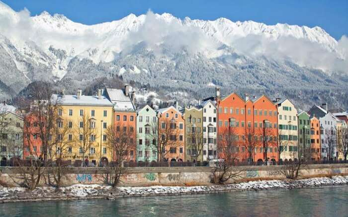 Snow covered Innsbruck