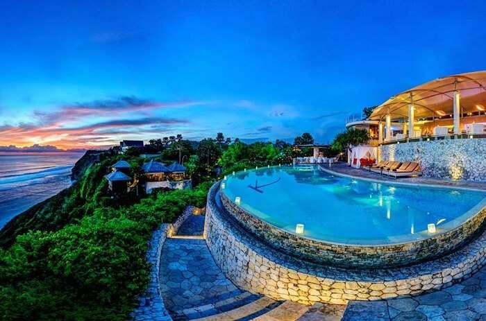 Exotic pool at the Karma Kandara, Jimbaran, Bali