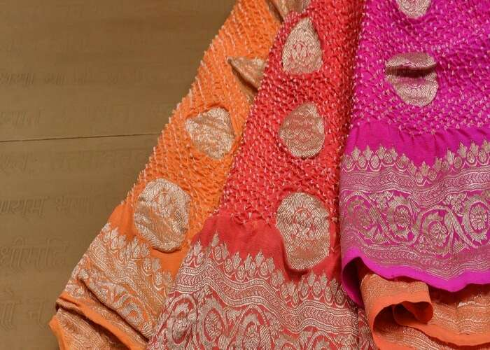 Bandhani sarees collection in Jodhpur market