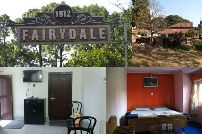 The different rooms and outside views of the Fairydale Resort in Lansdowne