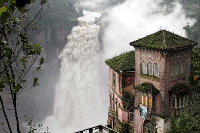 The abandoned Hotel del Salto by the Tequendama Falls in Columbia