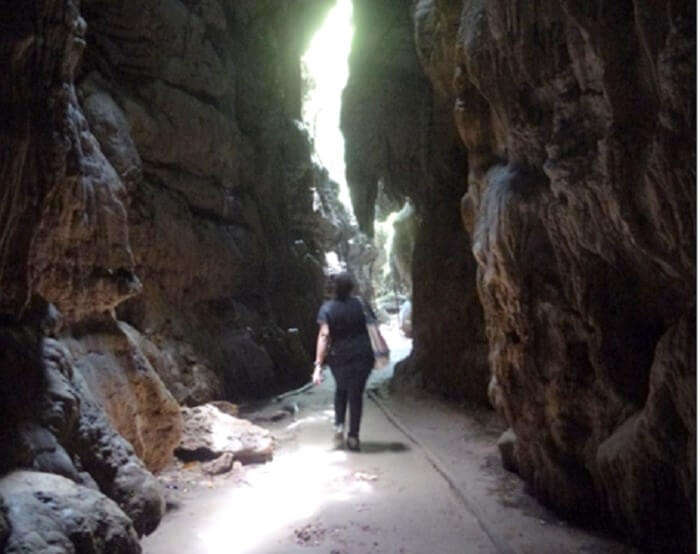 Limestone caves in Baratang in Andaman
