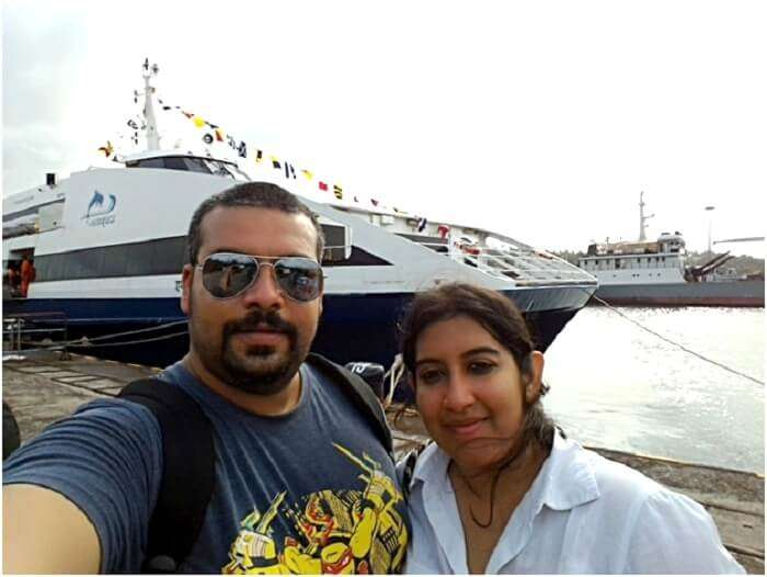 Aashish and his wife in Andaman