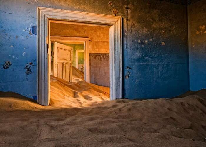 Scary house in Namibia
