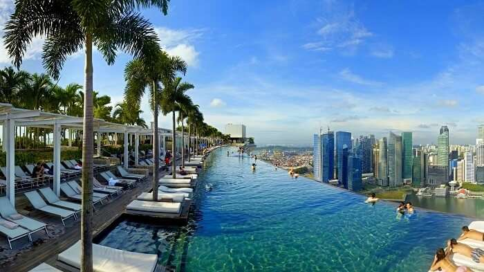 Infinity pool at the Marina Bay Sands Hotel