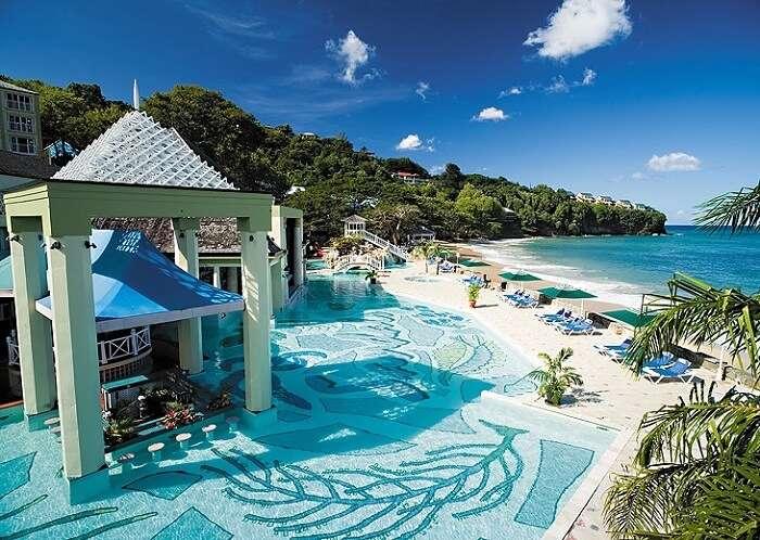 Exotic pool at the Naviti Resort in Fiji