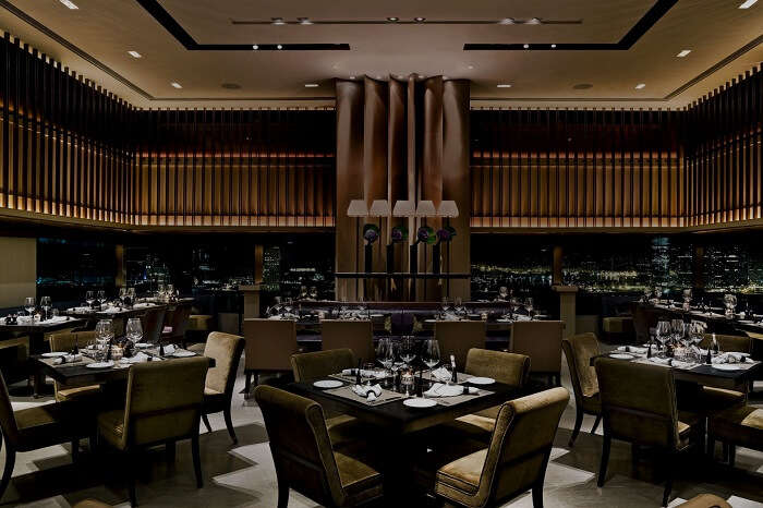 One of the many dining options at the Upper House in Hong Kong