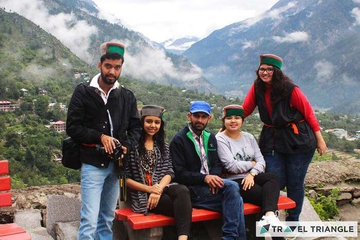 Group of travelers in Himachal hills