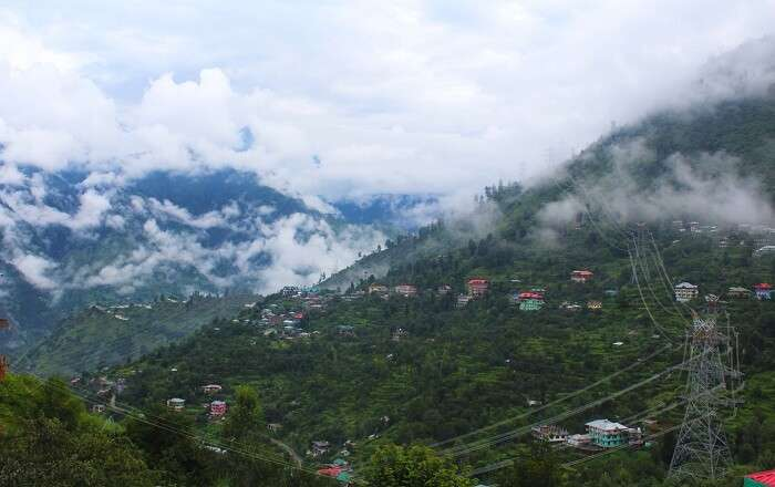 Fog over the hills of Shimla