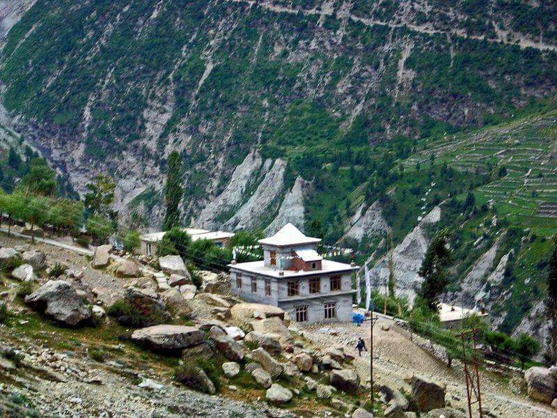 Gandhola Monastery in Lahaul