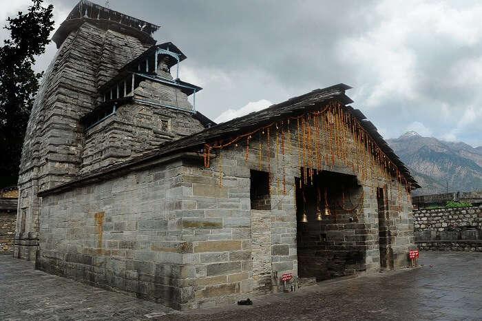 Ancient temple of Lord Shiva in Gopteshwar town near Chamoli