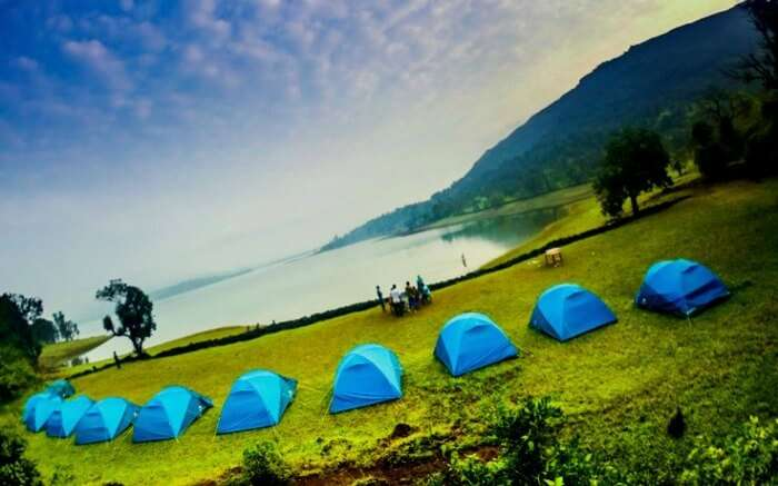 Lakeside camping in Bhandardara