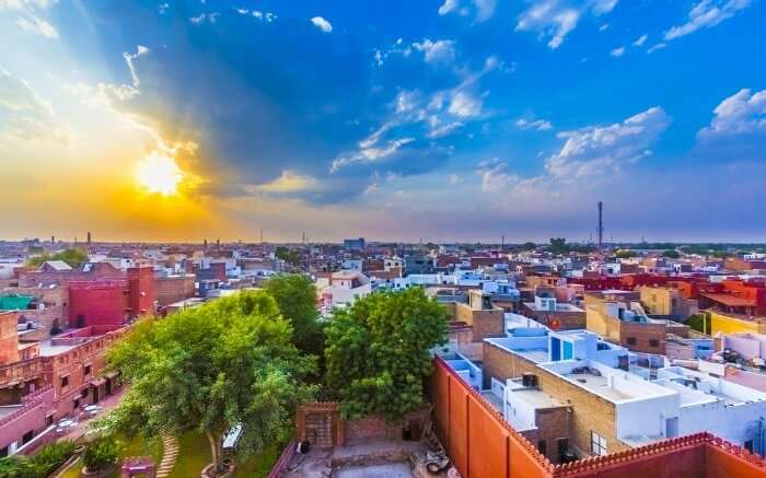 Cityscape of Bikaner