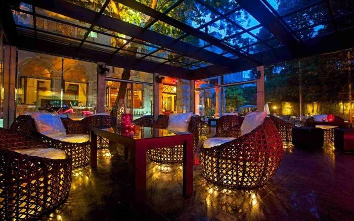 Interiors of ZAZA Bar at Casa Hotel