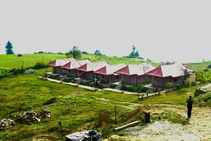 Camp stay style hotel in Chakrata