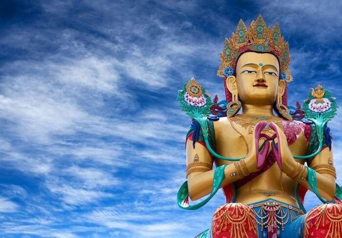 Statue of Maitreya Buddha near Diskit Monastery