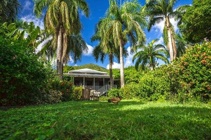 Former house of the planter at Road Town in Tortola district of British Virgin Islands