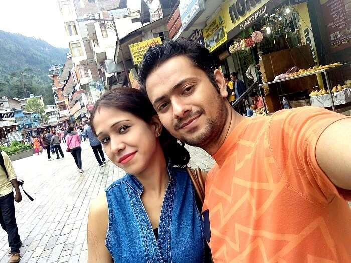 Ritesh and his wife in Manali