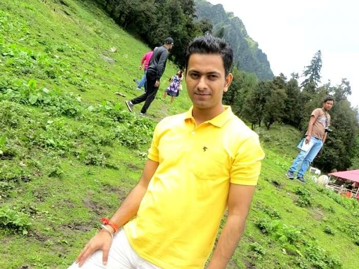 Ritesh sightseeing in Naggar