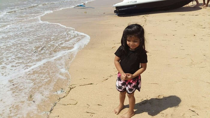 Mitaksh's daughter in Bali