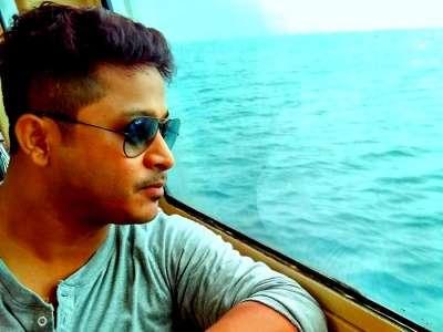 Soumyadip on his way to havelock island