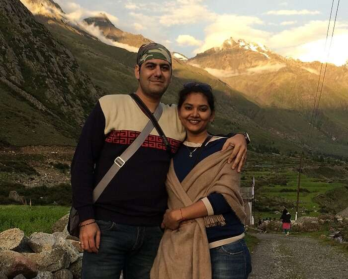 Sweta and Nikkhil in Sangla