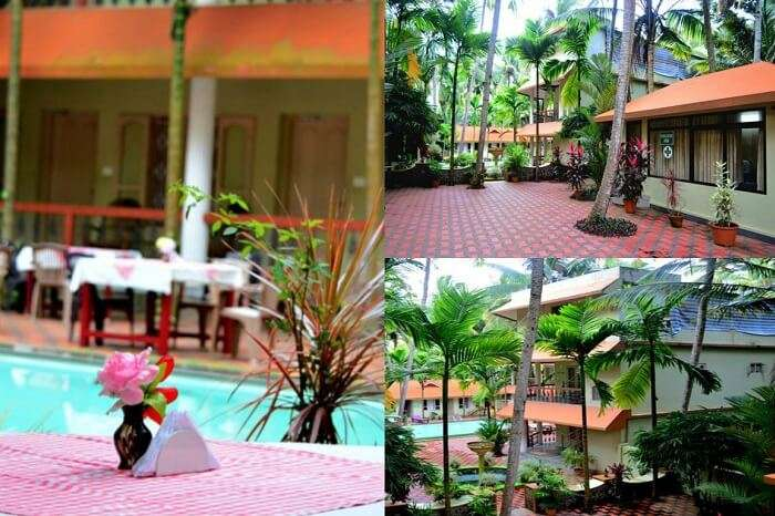 Shots of the exteriors of the Ideal Ayurvedic Resort in Kerala